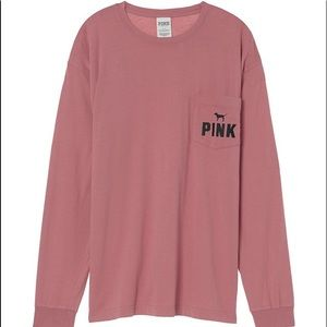 Victoria's Secret Pink Campus Long Sleeve Tee